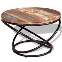 vidaXL tömör újrahasznosított fa dohányzóasztal 60 x 60 x 40 cm