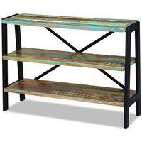 vidaXL 3 polcos tömör újrahasznosított fa tálalóasztal