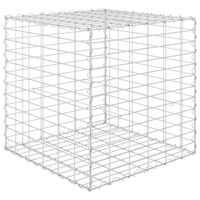 vidaXL kocka alakú acélhuzal gabion magaságyás 60 x 60 x 60 cm