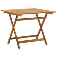 vidaXL akácfa összecsukható kerti asztal 90 x 90 x 75 cm