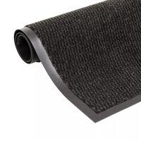 vidaXL négyszögletes szennyfogó szőnyeg 80 x 120 cm fekete