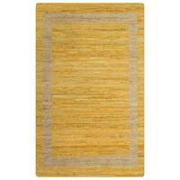 vidaXL sárga kézzel font jutaszőnyeg 160 x 230 cm