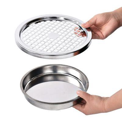 vidaXL szürke acél hamutartó szemeteskukával 30 L