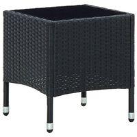 vidaXL fekete polyrattan kerti asztal 40 x 40 x 45 cm