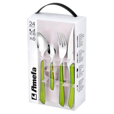 Amefa Eclat zöld 24 darabos evőeszközkészlet