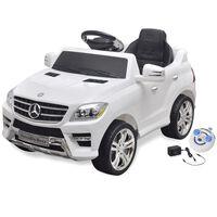 Mercedes Benz ML350 elektromos kisautó távirányítóval 6 V fehér