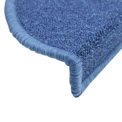 vidaXL 15 darab kék lépcsőszőnyeg 65 x 24 x 4 cm