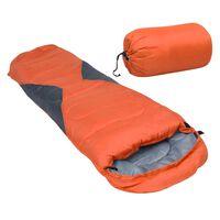 vidaXL narancssárga könnyű gyerek múmia hálózsák 670 g 10 °C