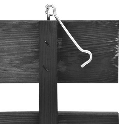 vidaXL festett tömör fenyőfa dupla kerekeskuka-tároló 140x75x121 cm