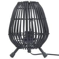 vidaXL fekete fűzfa asztali állólámpa 60 W 20 x 27 cm E 27