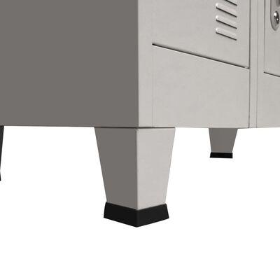 vidaXL fém öltözőszekrény 18 rekesszel 90 x 40 x 180 cm