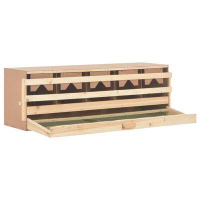 vidaXL 5 rekeszes tömör fenyőfa tojófészek 117 x 33 x 38 cm