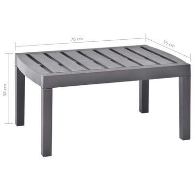 vidaXL mokka műanyag társalgóasztal 78 x 55 x 38 cm
