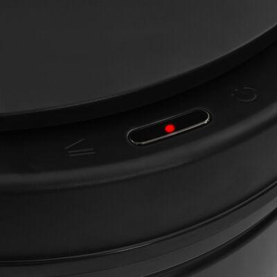 vidaXL fekete automata érzékelős szénacél szemeteskuka 80 L