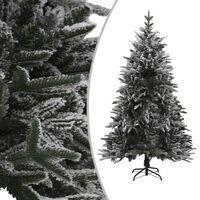 vidaXL PVC és PE műkarácsonyfa pelyhes hóval 240 cm