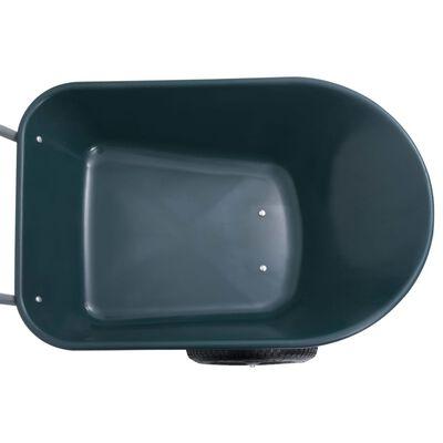 vidaXL zöld és szürke talicska 140 x 63 x 65 cm 78 L 100 kg