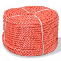 vidaXL narancssárga polipropilén sodrott kötél 6 mm 200 m