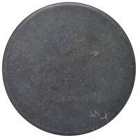 vidaXL fekete márvány asztallap Ø70 x 2,5 cm