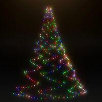 vidaXL fémhorgos fali fa 720 színes LED-del 5 m