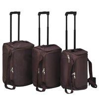 vidaXL 3 darabos kávészínű bőröndszett