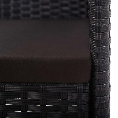 vidaXL 9 részes fekete polyrattan kültéri étkezőgarnitúra