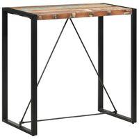 vidaXL tömör újrahasznosított fa bárasztal 110 x 60 x 110 cm