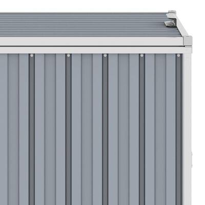 vidaXL szürke acél kukatároló 4 db kukához 286 x 81 x 121 cm