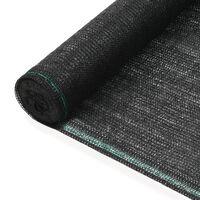 vidaXL fekete HDPE teniszháló 1 x 25 m