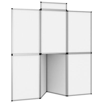 vidaXL fehér 8 paneles összecsukható kiállítófal asztallal 181x200 cm