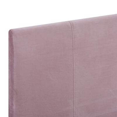 vidaXL rózsaszín szövetkárpitozású ágykeret 90 x 200 cm