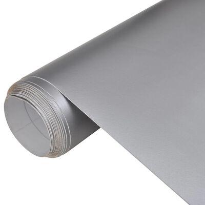 Vízálló buborékmentes autófólia matt ezüst 200 x 152 cm