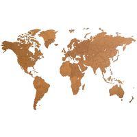 MiMi Innovations Giant barna világtérkép fali dísz 280 x 170 cm