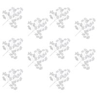 vidaXL 10 darab fehér mű páfrányfenyő levél 65 cm