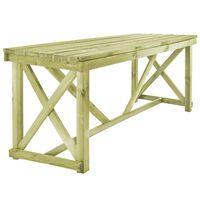 vidaXL fa kerti asztal 160 x 79 x 75 cm