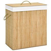 vidaXL bambusz szennyestartó kosár 100 L