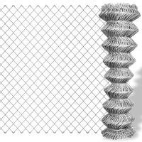 vidaXL ezüst horganyzott acél drótkerítés 15 x 1,25 m