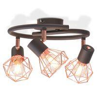 vidaXL mennyezeti lámpa 3 db 12 W-os LED izzós villanykörtével