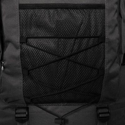 vidaXL XXL 100 L fekete katona stílusú hátizsák