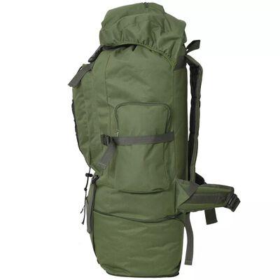 vidaXL katona stílusú hátizsák 100 L XXL zöld