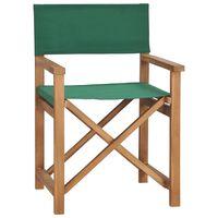 vidaXL zöld tömör tíkfa rendezői szék