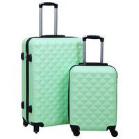 vidaXL 2 db mentazöld ABS keményfalú gurulós bőrönd