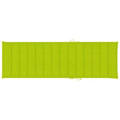 vidaXL impregnált fenyőfa napozóágy élénkzöld párnával