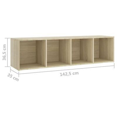 vidaXL 3 részes sonoma-tölgyszínű forgácslap TV-szekrény szett