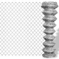 vidaXL ezüst horganyzott acél drótkerítés 15 x 1 m