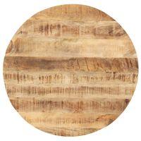 vidaXL kerek tömör mangófa asztallap 25-27 mm 60 cm