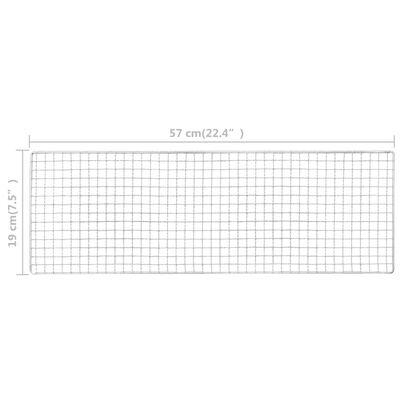 vidaXL hordozható acél kempinggrill 60 x 22,5 x 33 cm