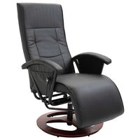 vidaXL fekete műbőr elforgatható TV-fotel