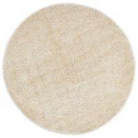 vidaXL bézsszínű bozontos szőnyeg 67 cm