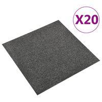 vidaXL 20 db antracitszürke szőnyegpadlólap 5 m² 50 x 50 cm