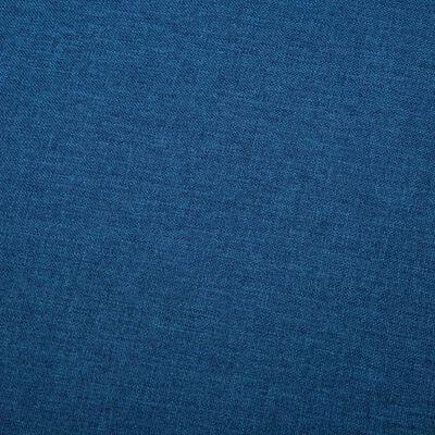 vidaXL 3 személyes kék szövetkanapé